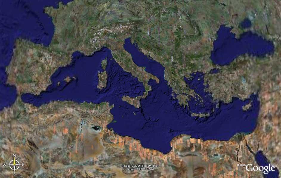 Mediterranean Basin by Google Earth \ maps & views \ Grabov Rat