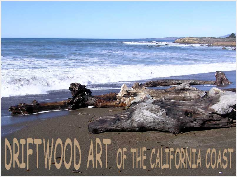 photo gallery : driftwood art of the California coast