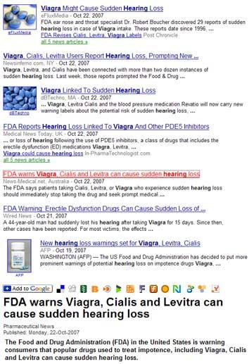 Viagra And Hearing Loss